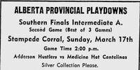 1956-57 Alberta Intermediate Playoffs