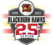 Blackburn Hawks 25th anniversary logo