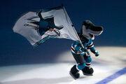 Sharkie with flag