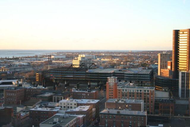 File:New Haven Coliseum morning of demolition.JPG