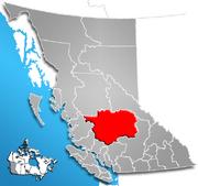 Cariboo Regional District, British Columbia Location