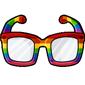 Rainbow Hipster Glasses