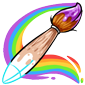 Partially Drawn Paint Brush