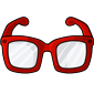Red Hipster Glasses