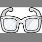 White Hipster Glasses
