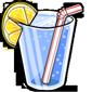 Glass of Blueberry Lemonade
