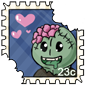I Heart Zombies Stamp
