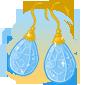 Diamond Egg Earrings