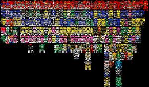 All super sentai a k a power rangers pixel art by miralupa-d2plajx