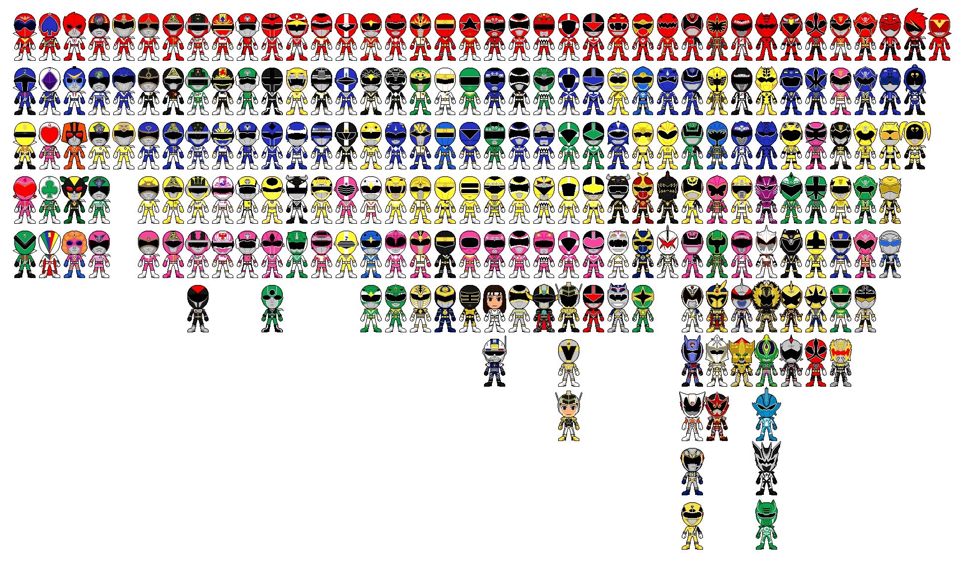 image all super sentai a k a power rangers pixel art by Spectacular Spider-Man Toys Superior Spider-Man deviantART
