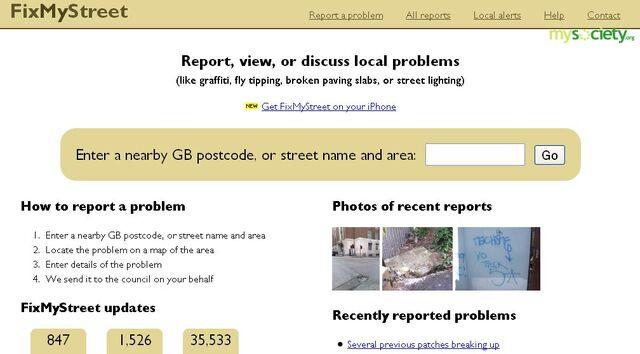 File:FixMyStreet frontpage screenshot.jpg