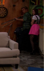 Jasmine Hiding Behind Logan