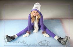 Olivia Wearing Ice Skates