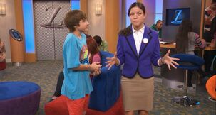 Piper Curda with Jake Short on ANT Farm
