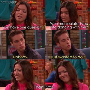 Jasmine blushes when talking to Logan