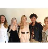 Olivia and her photoshoot crew.