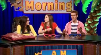 Delia, Jasmine and Logan for Ditka High Morning Announcements