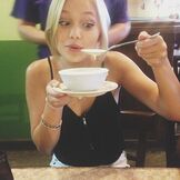 Olivia with a Bowl of Soup