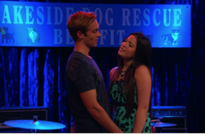 Jasmine and Logan Smirking