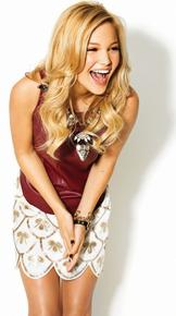 Olivia photoshoot 2014 GLMagazine Red top and white skirt