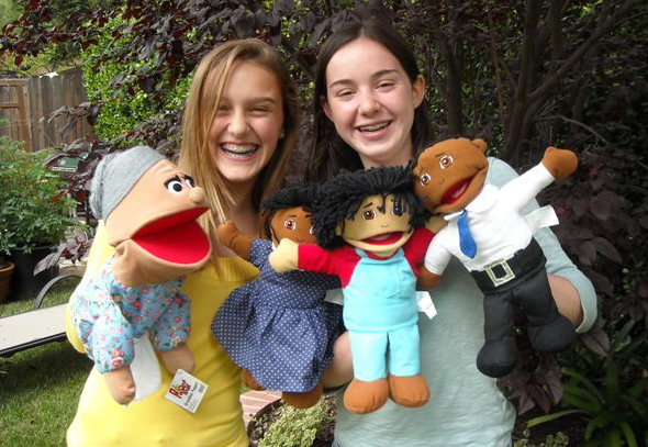 File:Sarah with Puppets in 2011.jpg