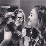 Olivia, Piper with a Dog