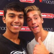 Austin North and a fan