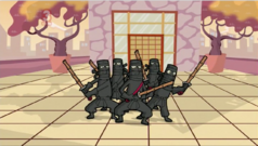 A group of silent ninjas