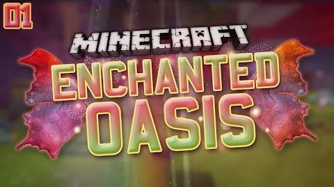 "Minecraft- Enchanted Oasis ""WELCOME!"" 1"