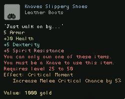 Knaves Slippery Shoes