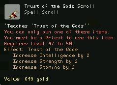 Trust of the Gods Scroll