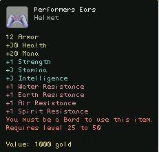 Performers Ears