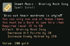 Sheet Music Blaring Rock Song