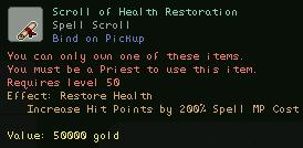 Scroll of Health Restoration