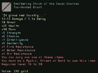 Smoldering Stick of the Seven Dwarves