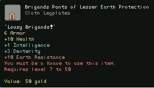 Brigands Pants of Lesser Earth Protection