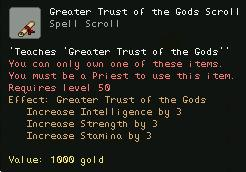 Greater Trust of the Gods Scroll