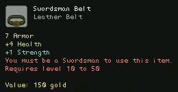 Swordsman Belt