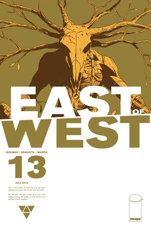 Cover for East of West #13 (2014)