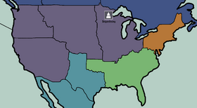 French colonial holdings in North America