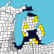1978 Michigan conquest of lp counties which declared allegiance to Michigan
