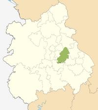 KIng's Norton (WM) locator map