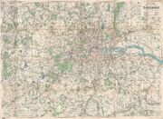1920 Bacon Pocket Map of London, England and Environs - Geographicus - London-bacon-1920