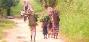 Women returning from their gardens Basankusu