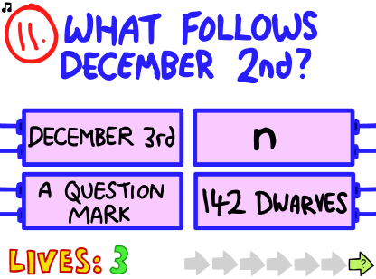 Question 14 Impossible Quiz