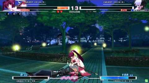 UNDER NIGHT IN-BIRTH Yuzuriha Gameplay