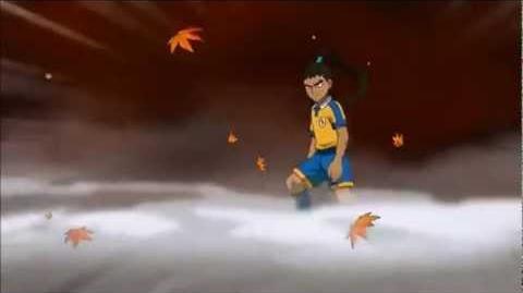 Inazuma Eleven GO Chrono Stone - Bushin Renzan Shin Mach Wind vs