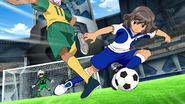Shindou stealing the ball from Octa Galaxy 6 HQ