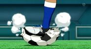 Kusaka bursting the ball