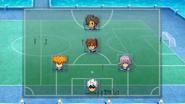 Earth Eleven VS Sazanaara mini-match formation